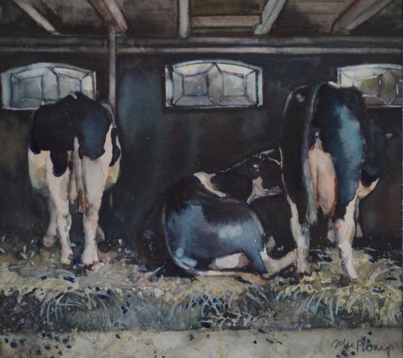 Koeien op stal - Joke Plomp