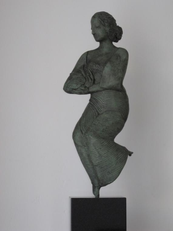 Vrouw met vogel - Marion Visione