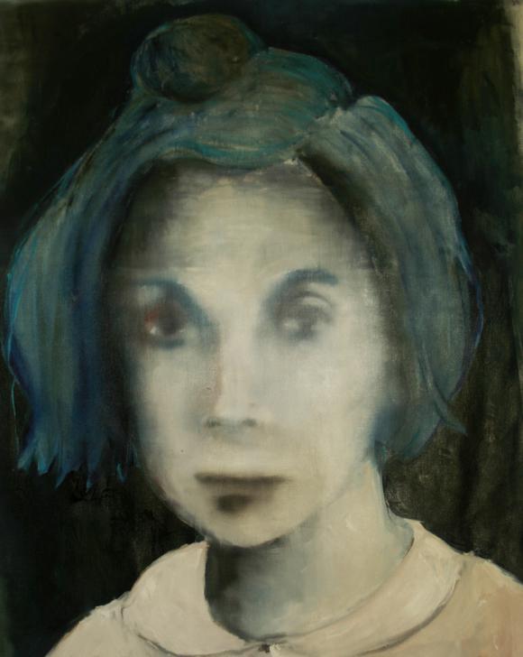 Meisje met blauw haar - Thea Zweerink